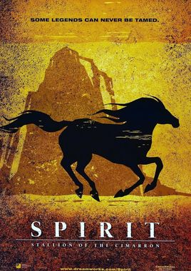"Cartel ""Spirit, el corcel indomable"" norteamericano 2"