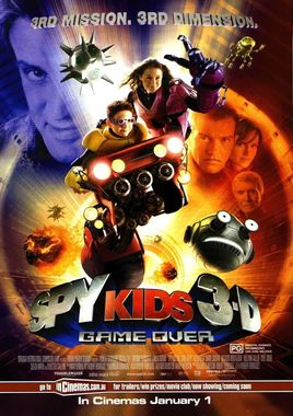 "Cartel ""Spy Kids 3D: Game Over"" norteamericano"