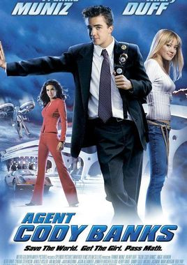 "Cartel ""Superagente Cody Banks"" norteamericano"