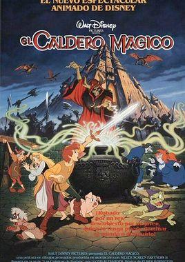 """Cartel de """"Taron y el caldero mágico"""" argentino"""