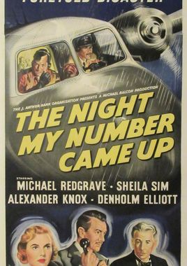 "Cartel ""The Night My Number Came Up"" inglés 3"