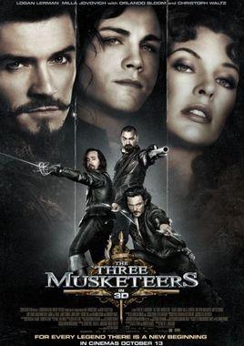 """Cartel """"Los tres mosqueteros (2011)"""" norteamericano 2"""