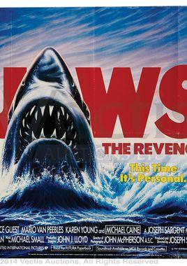 "Cartel de ""Tiburón, la venganza"" inglés"