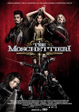"""Cartel """"Los tres mosqueteros (2011)"""" italiano"""