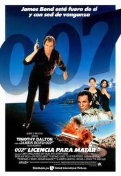 Cartel oficial en español de: 007: Licencia para matar (16)
