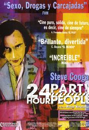 Cartel oficial en español de: 24 hour party people