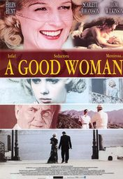 Cartel oficial en español de: A good woman