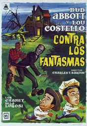 Cartel oficial en español de: Abbott y Costello contra los fantasmas