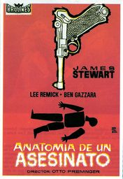 Cartel oficial en español de: Anatomía de un asesinato