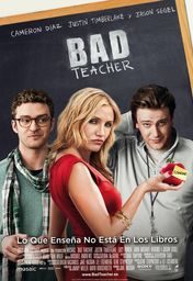 Cartel oficial en español de: Bad teacher
