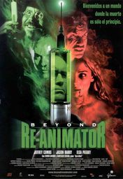 Cartel oficial en español de: Beyond Re-Animator