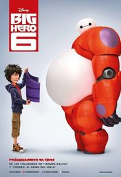 Cartel oficial en español de: Big Hero 6
