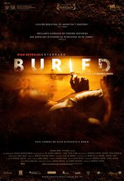 Cartel oficial en español de: Buried (Enterrado)
