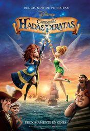 Cartel oficial en español de: Campanilla, hadas y piratas