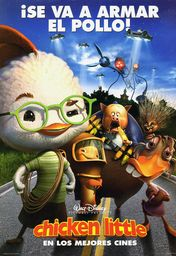 Cartel oficial en español de: Chicken Little