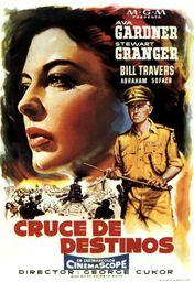 Cartel oficial en español de: Cruce de destinos (1956)