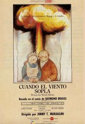 Cartel oficial en español de: Cuando el viento sopla
