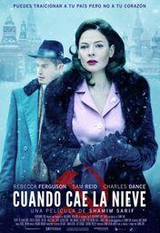 Cartel oficial en español de: Cuando cae la nieve