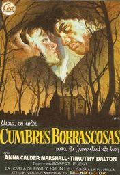 Cartel oficial en español de: Cumbres borrascosas (1970)