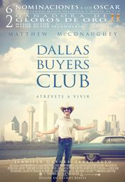 Cartel oficial en español de: Dallas Buyers Club