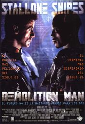 Cartel oficial en español de: Demolition Man