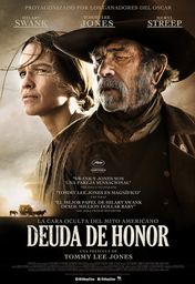 Cartel oficial en español de: Deuda de honor (The Homesman)