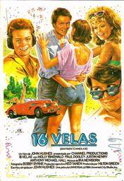 Cartel oficial en español de: Dieciséis velas