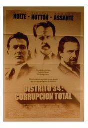 Cartel oficial en español de: Distrito 34: corrupción total