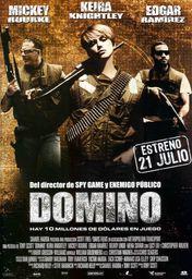 Cartel oficial en español de: Domino