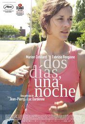 Cartel oficial en español de: Dos días, una noche