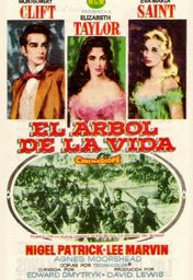 Cartel oficial en español de: El árbol de la vida (1957)
