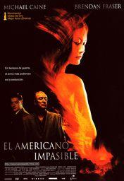 Cartel oficial en español de: El americano impasible