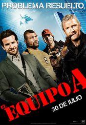 Cartel oficial en español de: El Equipo A
