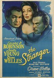 Cartel oficial en español de: El extraño (1946)