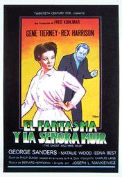 Cartel oficial en español de: El fantasma y la señora Muir