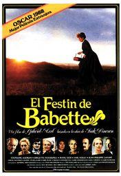 Cartel oficial en español de: El festín de Babette