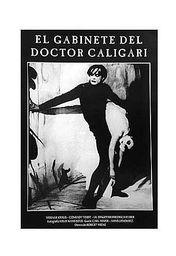 Cartel oficial en español de: El gabinete del Dr. Caligari