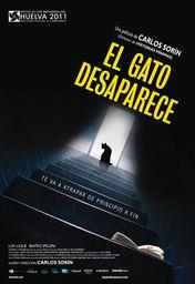 Cartel oficial en español de: El gato desaparece