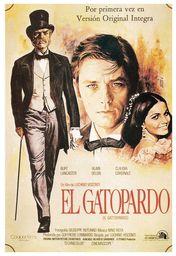 Cartel oficial en español de: El gatopardo
