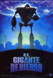 Cartel oficial en español de: El gigante de hierro