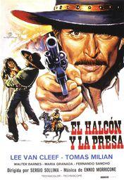 Cartel oficial en español de: El halcón y la presa