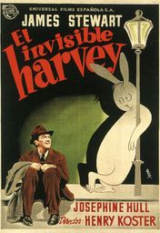 Cartel oficial en español de: El invisible Harvey