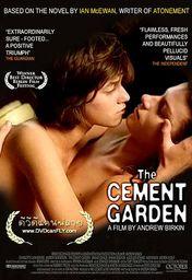 Cartel oficial en español de: El jardín de cemento