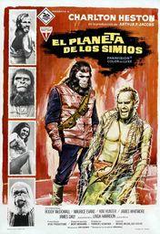 Cartel oficial en español de: El planeta de los simios