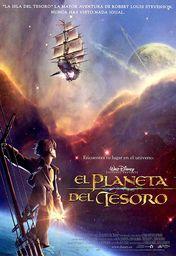 Cartel oficial en español de: El planeta del tesoro