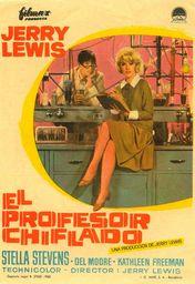 Cartel oficial en español de: El profesor chiflado (1963)
