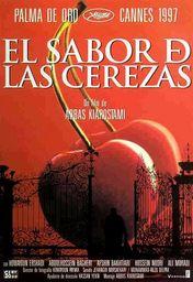 Cartel oficial en español de: El sabor de las cerezas