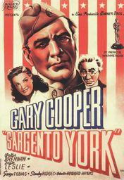 Cartel oficial en español de: El sargento York