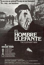 Cartel oficial en español de: El hombre elefante
