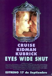 Cartel oficial en español de: Eyes Wide Shut
